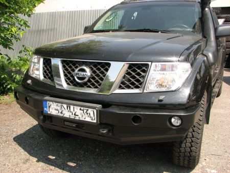 F4x4 Front bumper with winch plate Nissan Navara D40 2005-2010