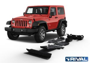 Rival4x4 skidplate 6 pieces kit for Jeep Wrangler JK (Engine: 2 Doors, 3,6 Petrol only)