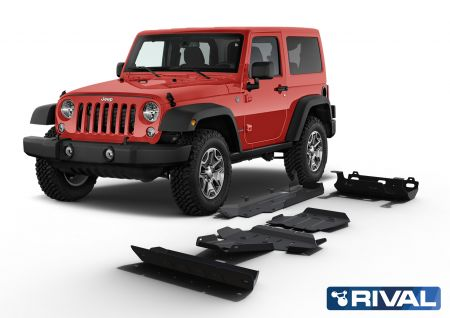 Rival4x4 skidplate 5 pieces kit for Jeep Wrangler JK 2007-2018 (Engine: 4 Doors, 2,8 Diesel)