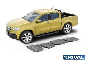 Rival4x4 4 pieces skidplate kit for Mercedes Benz X-Class 3,0D (V6 only, incl. EURO6) 2018->