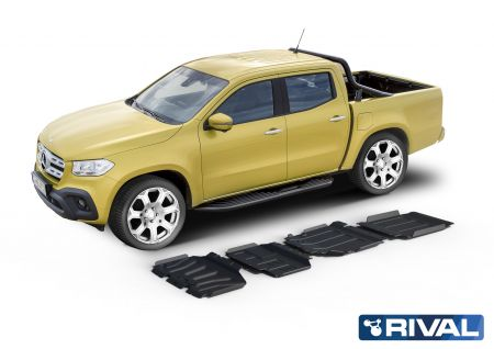 Rival4x4 4 pieces skidplate kit for Mercedes Benz X-Class 2,3TD (incl. EURO6)