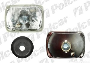 Square headlight 200x142 with park lamp for more types