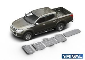Rival4x4 5 pieces skidplate full kit for Mitsubishi L200/Triton KAOT 2,5TD Double cab only