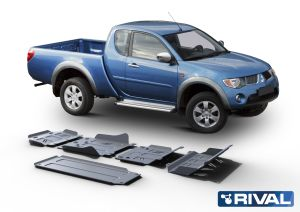 Rival4x4 5 piesces skidplate kit Mitsubishi L200/Triton KAOT 2007-2015; 2,5TD Double cab only