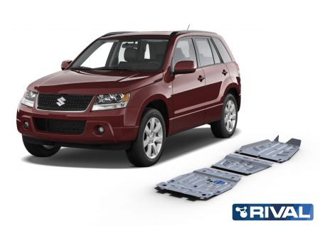 Rival4x4 3 pieces skidplate kit for Suzuki Grand Vitara  2005-2012; 2012-