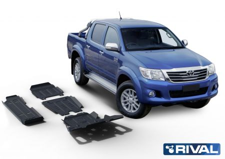 Rival4x4 4 pieces skidplate kit for Toyota Hilux Vigo 2,5TD; 3,0TD; 2,7