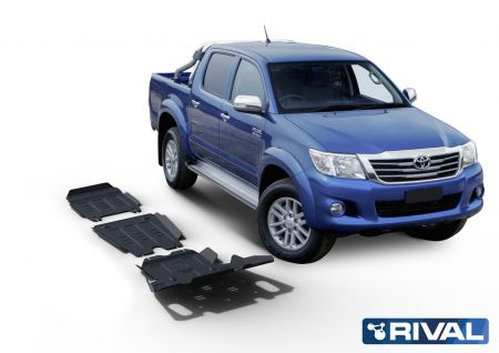 Rival4x4 3 pieces skidplate kit for Toyota Hilux Vigo 2,5TD; 3,0TD; 2,7