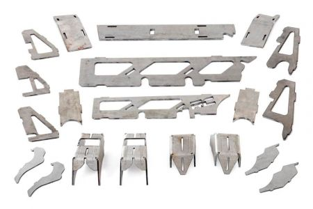Rough Country DANA 30 Front Axle Truss & Gusset Kit - Jeep Wrangler JK
