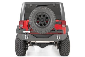 Rough Country Rock Crawler Rear HD Bumper with Tire Carrier - Jeep Wrangler JK