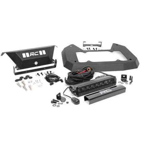 Rough Country Spare Tire Delete Kit with LED light Black Series - Jeep Wrangler JL