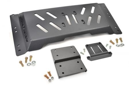 Rough Country Skid Plate - Jeep Wrangler TJ 4.0L 6-cylinder engine w/ automatic transmission, 1997-2006