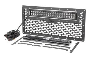 Mesh Grille With Dual Row LED Light Bar 50cm Rough Country - Jeep Wrangler JK