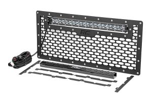 Mesh Grille with Single Row LED Light Bar 50 cm Rough Country - Jeep Wrangler JK
