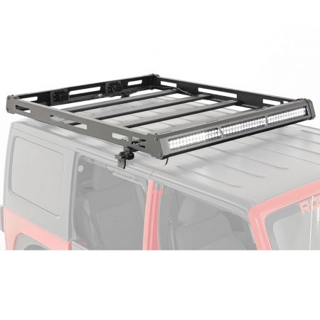 Rough Country Roof rack system for hard top with LED lights - Jeep Wrangler JK 2007-2018