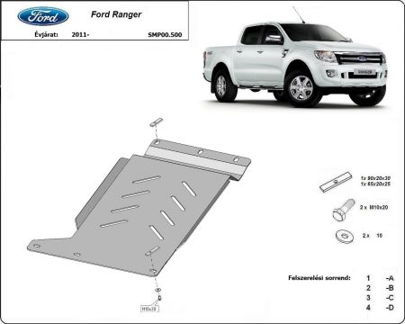 Ford Ranger, 2011-> - Gearbox protector plate