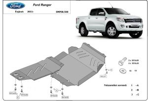 Ford Ranger, 2011-> - Engine protector steel plate