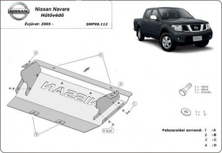 Nissan Pathfinder, 2.5 dCi (4WD), 4.0 (4WD), 2005 - 2015  - Cooler protector plate