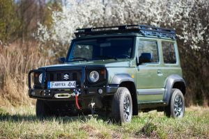 F4x4 Front bumper with winch plate with a removable bullbar Suzuki Jimny IV 1.5 petrol from 2018