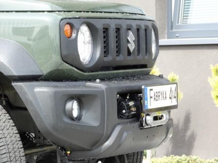 F4x4 Front bumper with winch plate without bullbar Suzuki Jimny IV 1.5 petrol from 2018