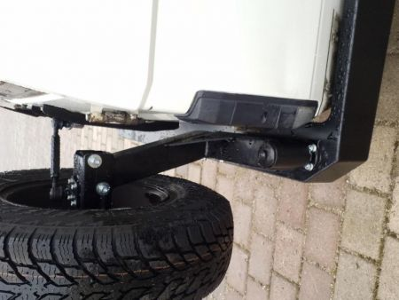 F4x4 spare wheel carrier Toyota Land Cruiser 71, 75, 76, 78, 79 from 2007