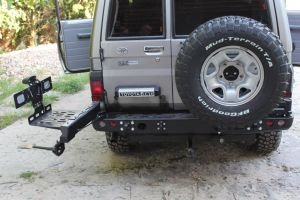 F4x4 Jerry can carrier Plastic 30L Toyota Land Cruiser 71, 75, 76, 78, 79 from 2007 for F4X4 bumper