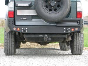 F4x4 Rear bumper with holes for lights for Toyota Land Cruiser J95 1996-2002 with/without plastic fender flares