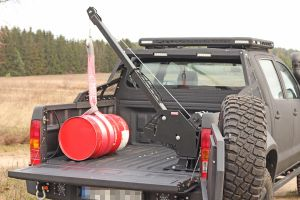 More4x4 Rotating Winch mounting plate with boom, Pick-Up crane for the truck bed