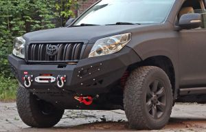 MorE4x4 Steel front bumper with winch plate Toyota Land Cruiser J150 2009-2014