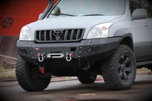 MorE4x4 Steel front bumper with winch plate Toyota Land Cruiser J120 2002-2009, all engine