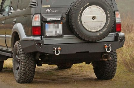 MorE4x4 Steel rear bumper Toyota Land Cruiser J90 short 1995-2002, all engine