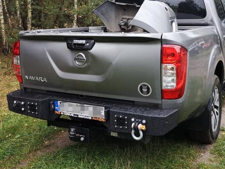 MorE4x4 Steel rear bumper Nissan Navara D23, NP300 after 2014, all engine  (-)