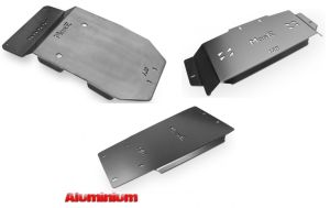 More4x4 3 pieces aluminium skid plate kit for Toyota Land Cruiser J150 2014=>