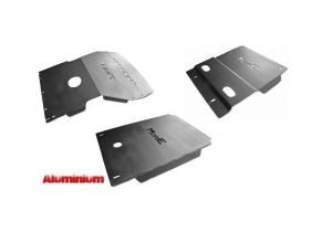 More4x4 3 pieces aluminium skid plate kit for Toyota Land Cruiser J95 1996-2002