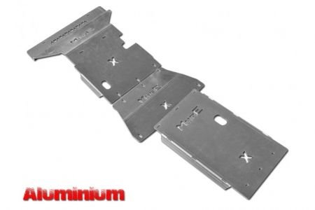 More4x4 3 pieces aluminium skid plate kit for Mercedes X-Class 2017=>