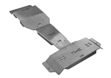 More4x4 3 pieces steel skid plate kit for Toyota Land Cruiser J150 2009-2014