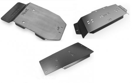 More4x4 3 pieces steel skid plate kit for Toyota Land Cruiser J150 2014=>