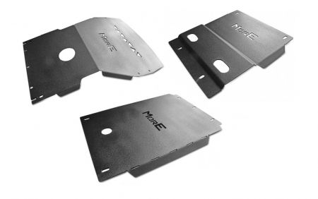 More4x4 3 pieces steel skid plate kit for Toyota Land Cruiser J95 1996-2002