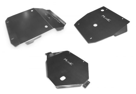 More4x4 3 pieces steel skid plate kit for Mitsubishi L200, Fiat Fullback 2015=>