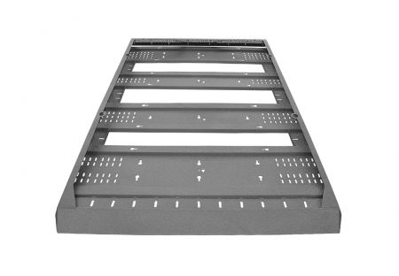 More4x4 Roof rack with basket Toyota Land Cruiser J100 with long rail spacing