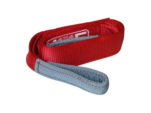 MORE4x4 Winch strap 2m / 12t Double stiched, red